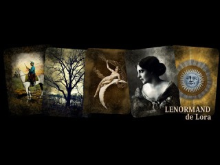 Lenormand de Lora - Divination Cards - Set includes 36 Lenormand Cards and Bonus Man & Woman Cards