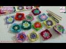 كوفرتة بيبي - مربعات زخرفية Baby blanket granny squares - حلقة (18) - برنا&