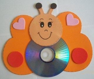 поделки из дисков своими руками для дома