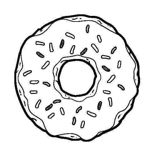 картинки для распечатки пончик