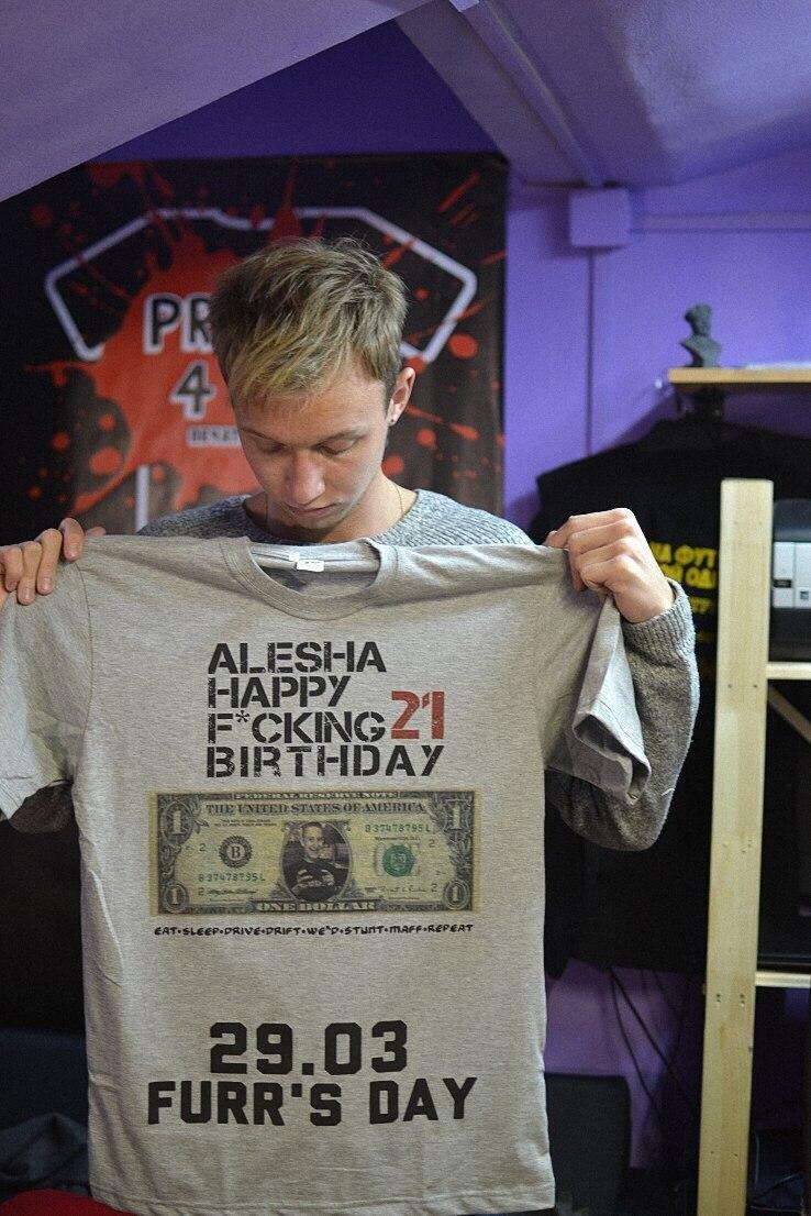 печать на мужской футболке 2