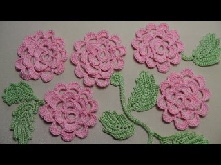 Вязание плоской РОЗЫ - урок вязания крючком. Как связать розочку крючком - Crochet Rose