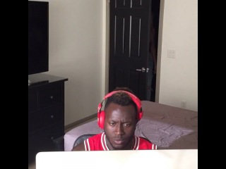 When you making a fire beat, and your girl walks in sad AF... (Nigga Vine)