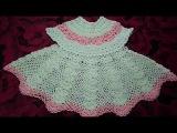 Платье ажурное крючком от 6 месDress baby crochetRobe enfant d'un crochet de 6 mois
