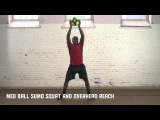 Med Ball Sumo Squat and Overhead Reach - Own the Front of the Net | Nike Hockey Training