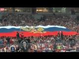 Сербы разворачивают флаг России и поют Катюшу на игре с командой из Украины!