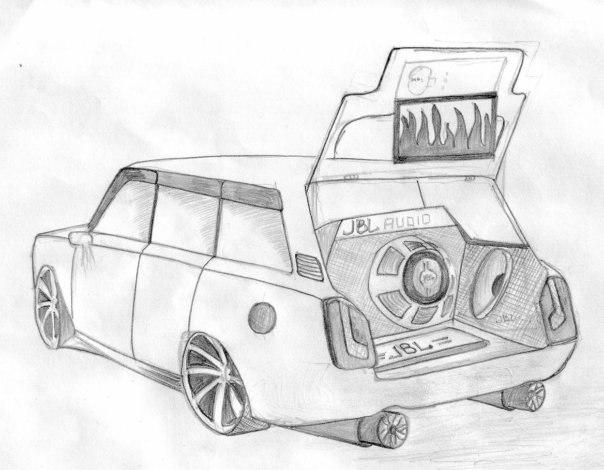 картинки машинки срисовки