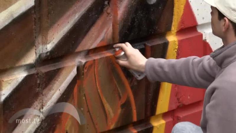 Репортаж на по теме граффити к 9 мая в честь 70 лет Победы