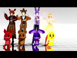 (FNAF)【Caramelldansen - Foxy, Freddy, Bonnie  Chica】MMD