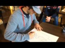 "Carlos and Max drawing ""Circuit de Barcelona-Catalunya"""