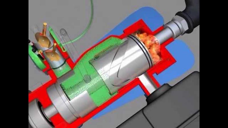 Видео 3D. Бесшатунный Двигатель.
