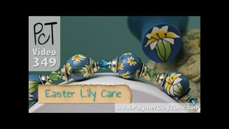 Polymer Clay Flower Cane Tutorial Easter Lily (Intro)