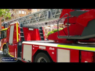 Ложный  Вызов Пожарных и Полиции в Испании, в Аликанте, пожара не было.m2ts