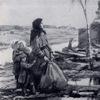 """Репродукция картины  """"Возвращение """" из серии  """"Не забудем, не простим """", 1942 год.  Уголь, черная акварель."""