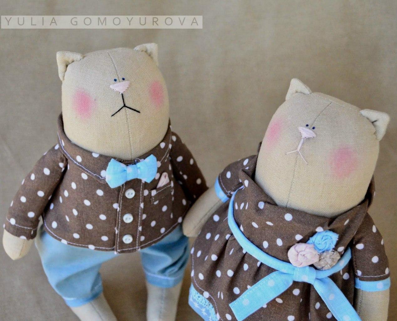 коты из ткани