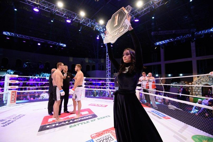 Ринг-герл турнира М-1 в Ингушетии