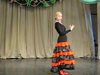 Репетиция танца Фламенко в образе Кармен.