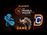 DC vs. Newbee - Game 3, Playoff WB @ Manila Major Dota 2