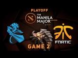 Fnatic vs. Newbee - Game 2, Playoff UB @ Manila Major Dota 2