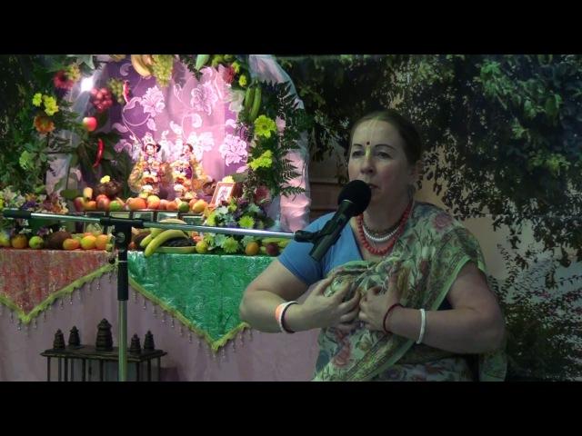 Празднование Гаурапурнимы 2016 в Изумруде, Екатеринбург, 27.03.2016. Лекция матаджи Ратнавати