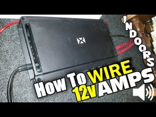 How To Wire Car Audio Amplifier (In Home) NVX JAD1200.1 Bass Amp Crescendo LOGIC 12V AGM Battery