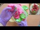 Как сделать цветы из мастики How to make flowers from mastic