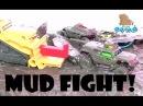 Mud Cars Toys. Hot Wheels Track. Split Speeder. Машинки в Грязи!!! Хот Вилс Ниндзя Рассекает Машинки