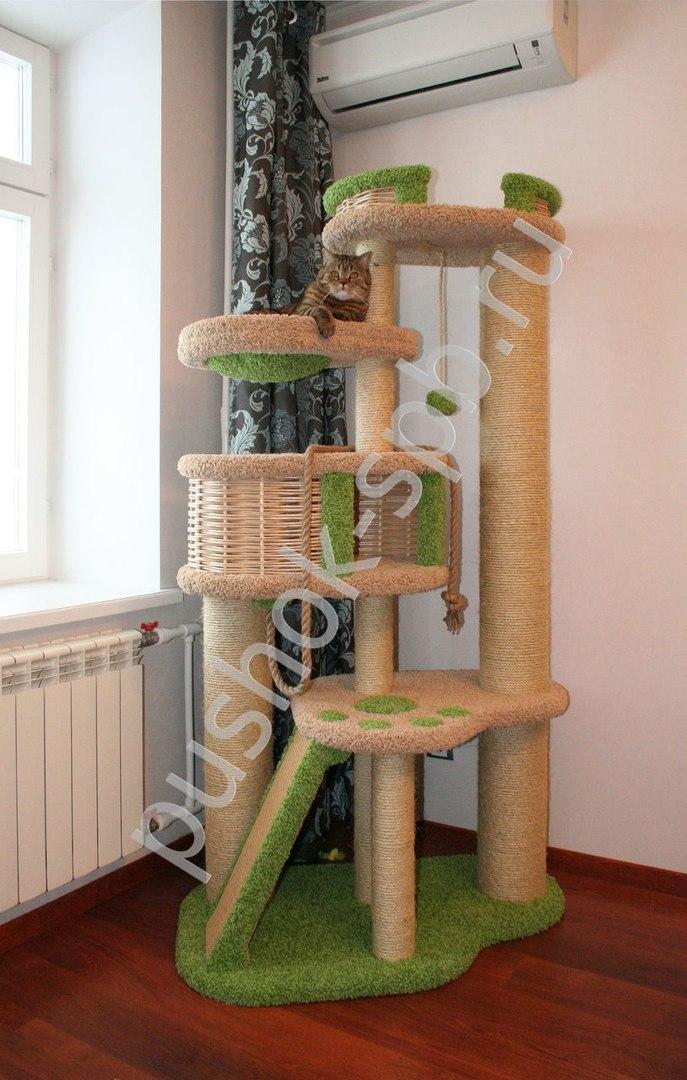 Дом и когтеточка для кошки фото