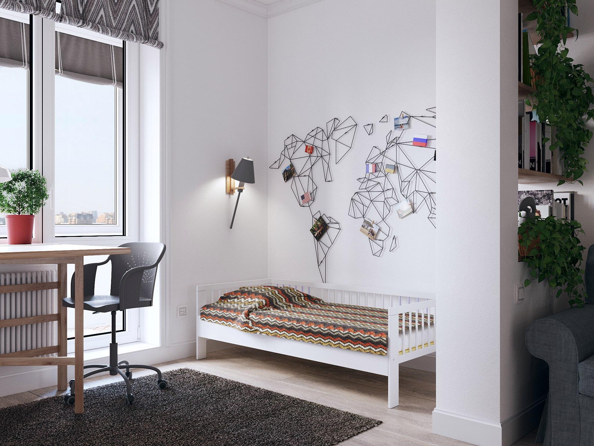 Дизайн проект квартиры студии 28 кв м.