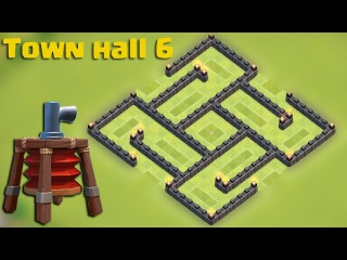 Clash of clans - Town hall 6 (TH6) Hybrid base [The trap] with AIR SWEEPER