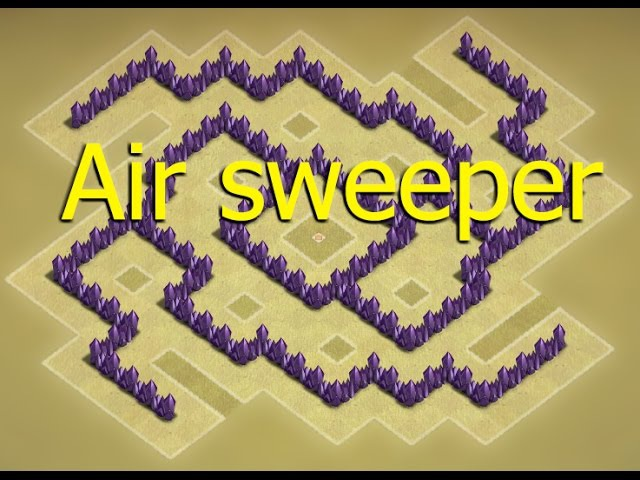Clash of clans - Town hall 6 (TH6) Clan war base [Air sweeper] Speed build
