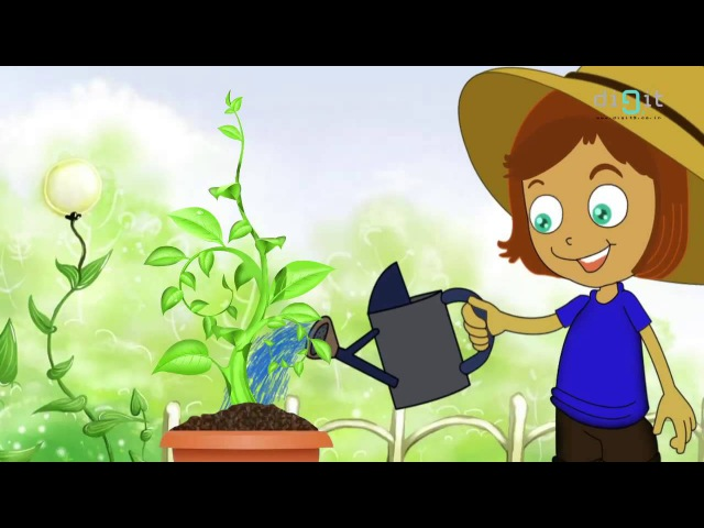 Let's Water The Plants Today Song Animated Nursery Rhymes Songs For Kids