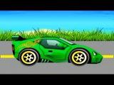 Cartoon about cars. CAR Wash and Spa. SPORTS CAR. Автомойка. СПОРТИВНЫЙ АВТОМОБИЛЬ.