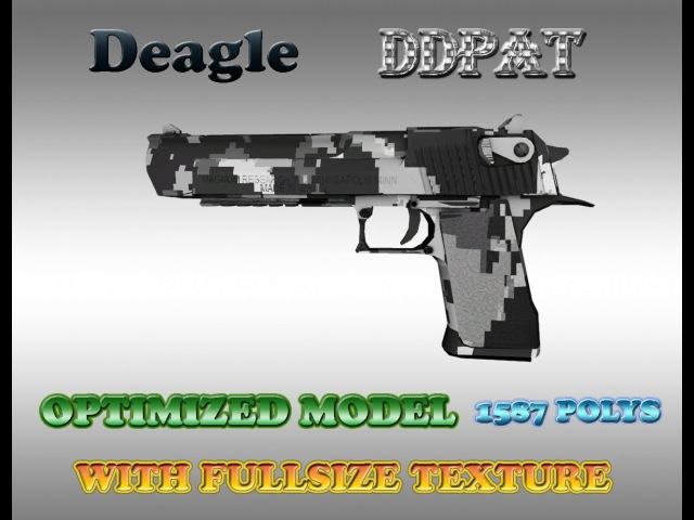 CSGO DEAGLE DDPAT HD skin For Counter-strike 1.6