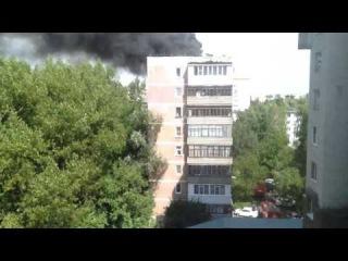 22 августа 2016. Пожар в Ставрополе по адресу 50 лет ВЛСКСМ 32/1