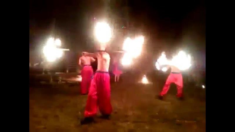 Шоу на байкерском слёте Дорога на Сич ! Огненное шоу от шоу проекта Дыхание Дракона