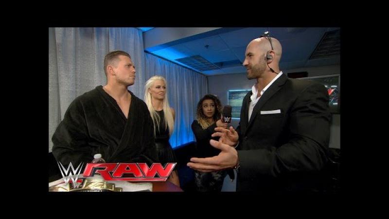 Cesaro spoils The Miz's performance: Raw, April 11, 2016