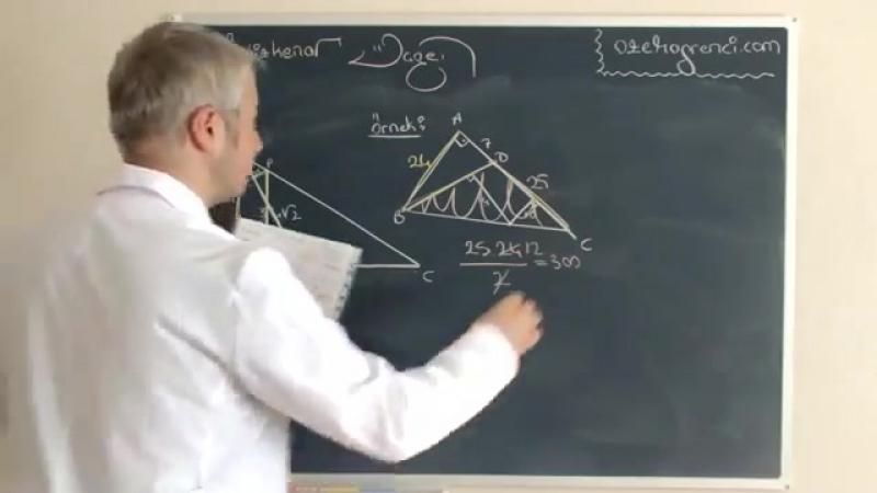 Ikizkenar Üçgen Videosu ve Ders Notu 4