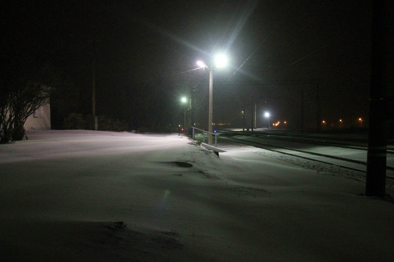 Заснеженная станция Мурзинка