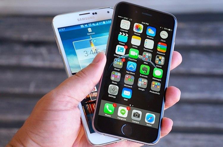 Схватка двух смартфонов наиболее популярных брендов Apple iPhone 6 и Samsun