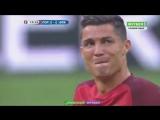 Криштиану Роналду не может сдержать слез, покидая поле на 25-й минуте матче
