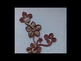 Irish lace Уроки вязания крючком ирландского кружева Вязание мини-композиции