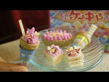 Kracie Popin' Cookin' renewal ice cream and cake DIY candy 知育菓子 たのしいケーキやさん