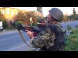 Лутугино. Нацгвардия атакует пустое здание милиции