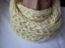Вязание снуда узором пышная резинка спицами.Knitting pattern LIC magnificent gum spokes.