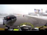 2014.11.23 Первый снег DRZ400S и Djebel 200 (4k)