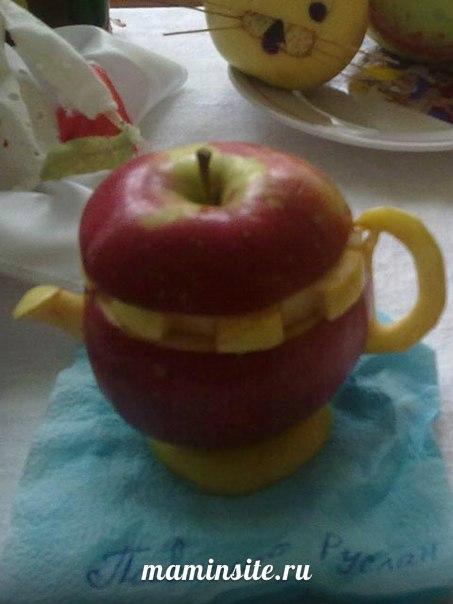 Какие можно сделать поделки из яблок