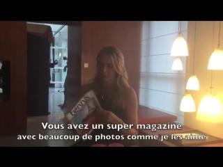 Tennis Mag Cam - Maria Sharapova aime Tennis Magazine !