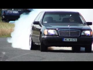 Mercedes S 600 V12 Biturbo burnout