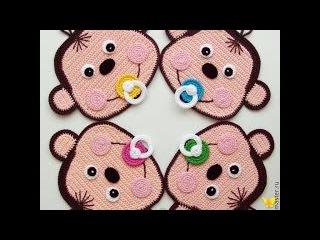 Вязаные обезьянки. Сrochet and knitted monkey.